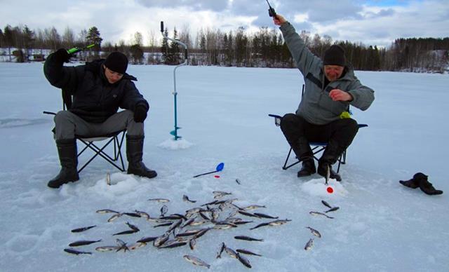 Зимняя рыбалка в финляндии видео